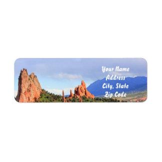 Jardin du Colorado des étiquettes de adresse de