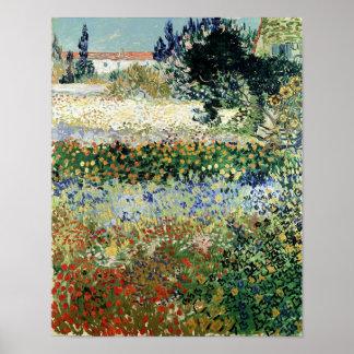 Jardin en fleur, Arles, 1888 Affiche