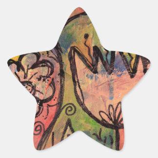 Jardin lunatique de féerie de ressort sticker étoile