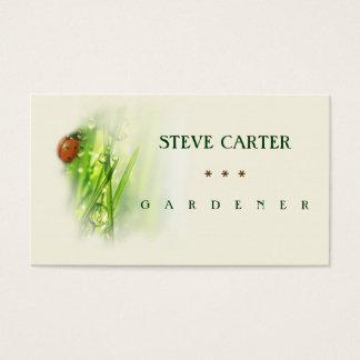 Jardinier, BIO carte de visite vert de fleuriste