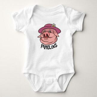 Jargon-Wort-Kinderkleid rosa Damen-Schwein Baby Strampler