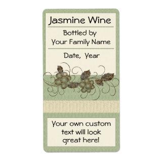 Jasmin-Rebe-Wein beschriftet Bordeaux, Eis-Wein Versand Aufkleber