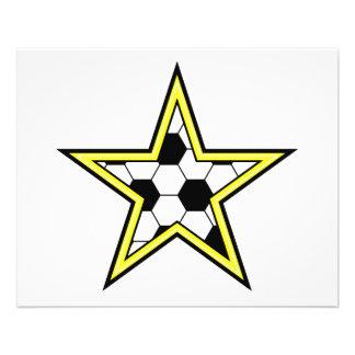 jaune d'étoile du football prospectus 11,4 cm x 14,2 cm