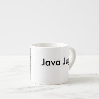 Java-Krug Schwarzweiss Espressotasse