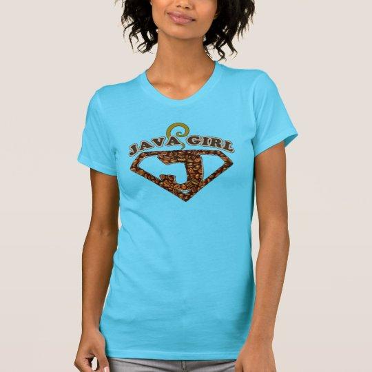 Java-Mädchen-Kaffee-Spaß-T - Shirt