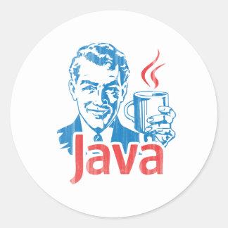 Java-Programmierer-Geschenk Runder Aufkleber