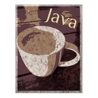 Java Vintag Postkarte