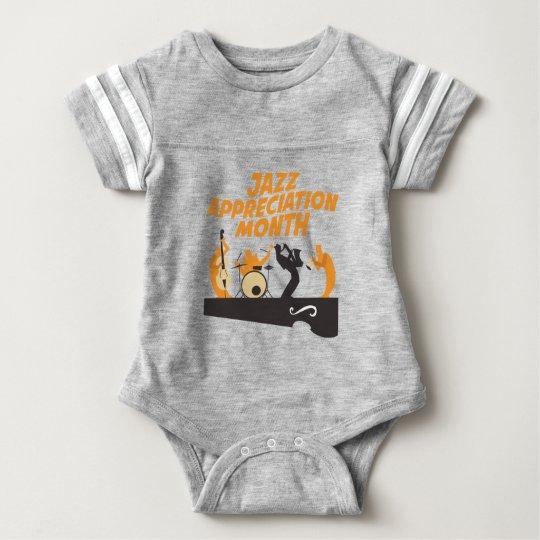 Jazz-Anerkennungs-Monat Baby Strampler