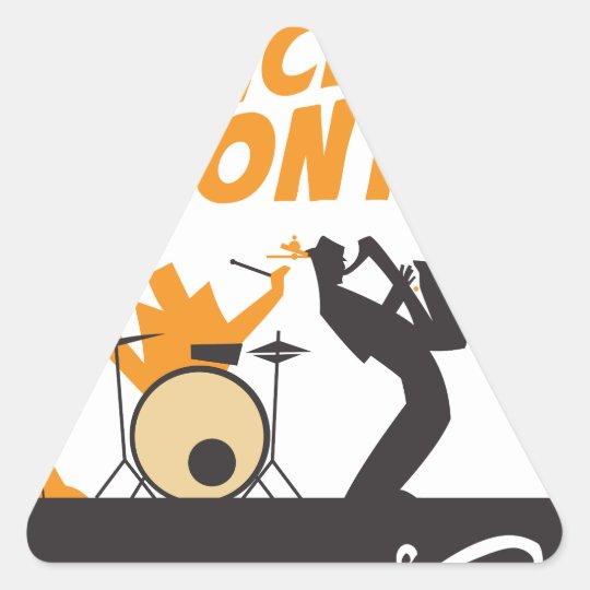 Jazz-Anerkennungs-Monat Dreieckiger Aufkleber