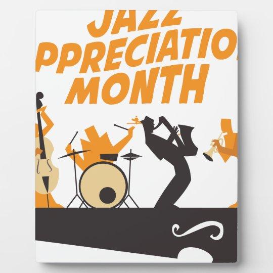 Jazz-Anerkennungs-Monat Fotoplatte