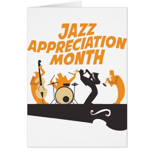 Jazz-Anerkennungs-Monat Grußkarte
