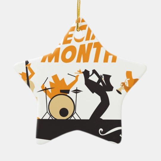 Jazz-Anerkennungs-Monat Keramik Ornament