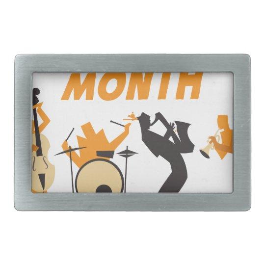 Jazz-Anerkennungs-Monat Rechteckige Gürtelschnallen