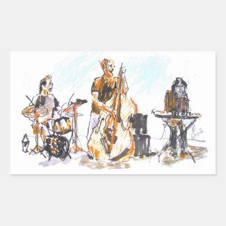 Jazz concert Trio Rechteckiger Aufkleber