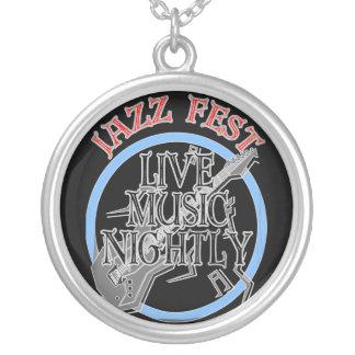 Jazz Fest Live-Musik-Schwarzes Versilberte Kette