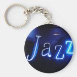 Jazz in Blue-Anhänger Standard Runder Schlüsselanhänger