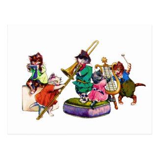 Jazz-Katzen Postkarten