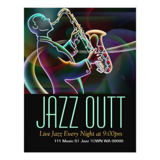 Jazz-Musik-Musiker-Flyer-Einladung 21,6 X 27,9 Cm Flyer