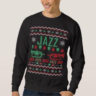 Jazz-Spieler-hässliche Weihnachtsstrickjacke Sweatshirt