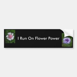 Je cours sur flower power par Jocelyn Burke Autocollant De Voiture