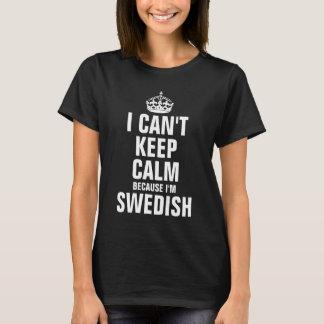 Je ne peux pas garder le calme parce que je suis t-shirt