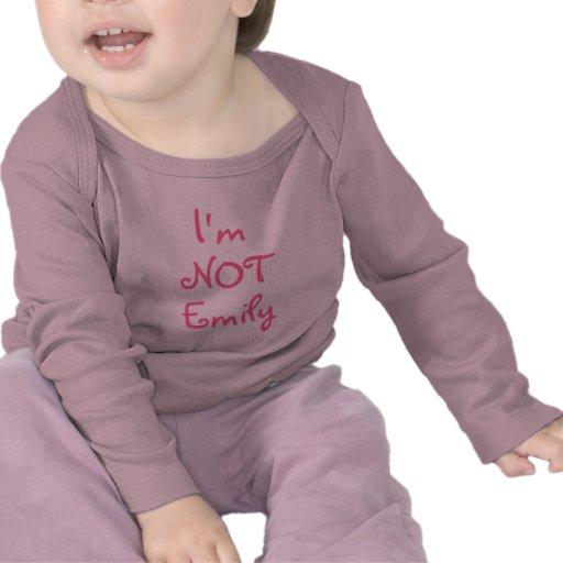 Je ne suis pas (le nom d'insertion du jumeau, du t t-shirts