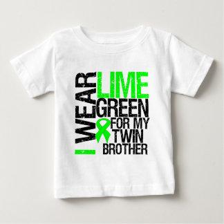 Je porte le vert de chaux pour mon lymphome de tshirt
