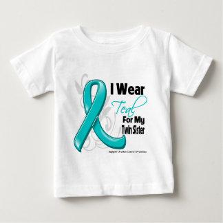 Je porte Teal pour ma soeur jumelle - Cancer T-shirt
