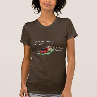 Je souhaite que ma pelouse ait été Emo T-shirt