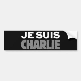 Je Suis Charlie - ich bin Charlie-Schwarzes Autoaufkleber