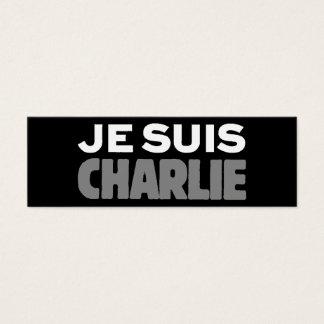 Je Suis Charlie - ich bin Charlie-Schwarzes Mini Visitenkarte