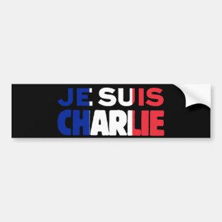 Je Suis Charlie - ich bin Charlie Tri Farbe von Autoaufkleber