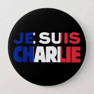 Je Suis Charlie - ich bin Charlie Tri Farbe von Runder Button 10,2 Cm