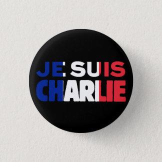 Je Suis Charlie - ich bin Charlie Tri Farbe von Runder Button 3,2 Cm