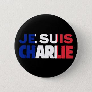 Je Suis Charlie - ich bin Charlie Tri Farbe von Runder Button 5,7 Cm