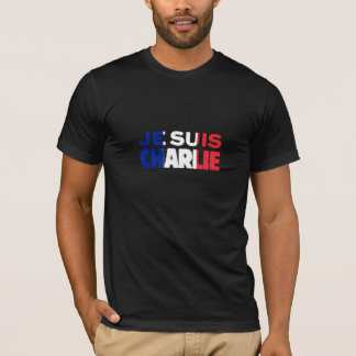 Je Suis Charlie - ich bin Charlie Tri Farbe von T-Shirt
