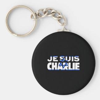 Je Suis Charlie-ICh morgens Charlie-Israel Flagge Schlüsselanhänger