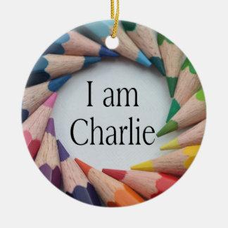 Je Suis Charlie Keramik Ornament