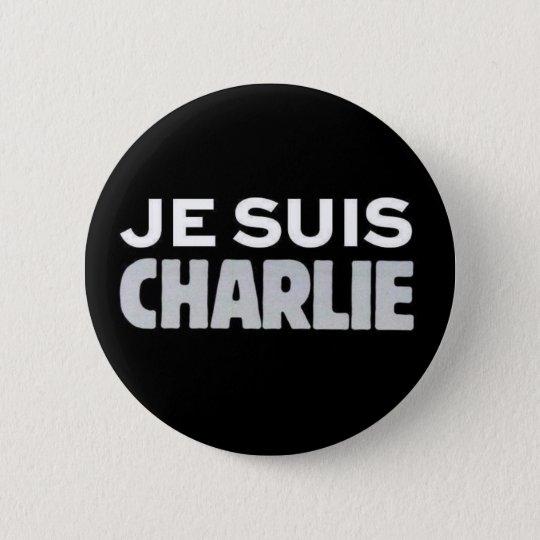 Je Suis Charlie Runder Button 5,7 Cm