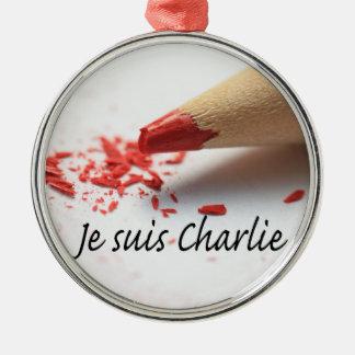 Je Suis Charlie Silbernes Ornament
