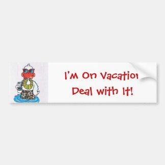 Je suis des vacances autocollant de voiture