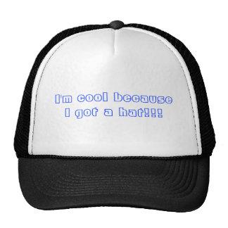 Je suis frais parce que j'ai obtenu un chapeau ! ! casquette