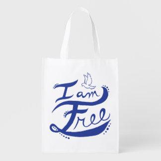 """""""Je suis"""" sac réutilisable libre Sac Réutilisable D'épcierie"""