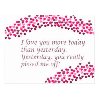 Je t'aime plus aujourd'hui carte postale