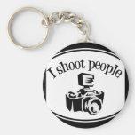 Je tire le rétro appareil-photo B&W de la photogra Porte-clé