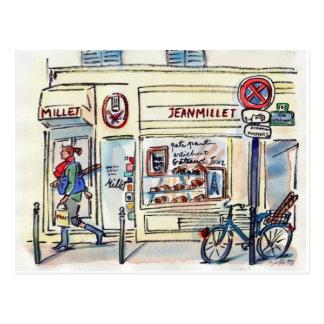 Jean-HirsePatisserie Paris durch Carol Gillott Postkarte
