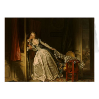 Jean-Honore Fragonard- der gestohlene Kuss Grußkarte