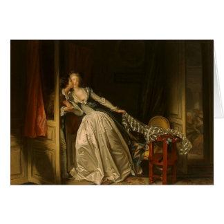 Jean-Honore Fragonard- der gestohlene Kuss Karte