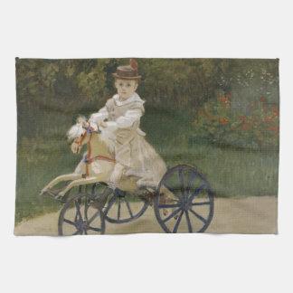 Jean Monet auf seinem Hobbypferd Handtuch