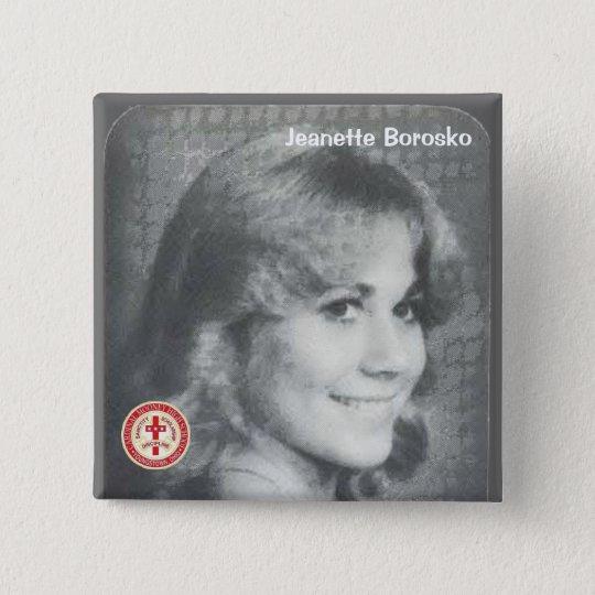 Jeanette Borosko Quadratischer Button 5,1 Cm